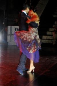 Tango dancers in...