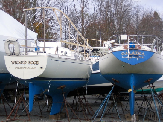 boats in dry dock