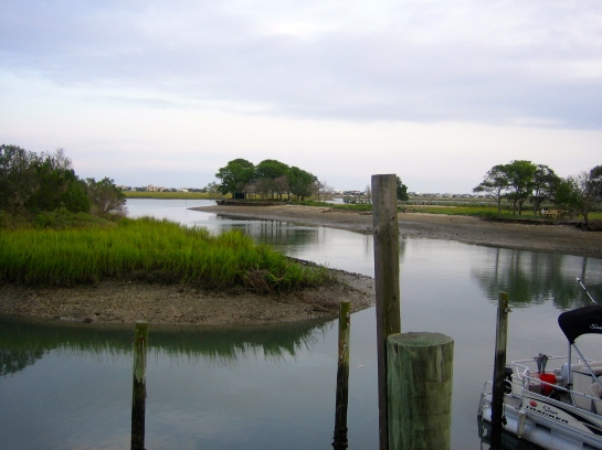 cloudy day at Murrell's Inlet