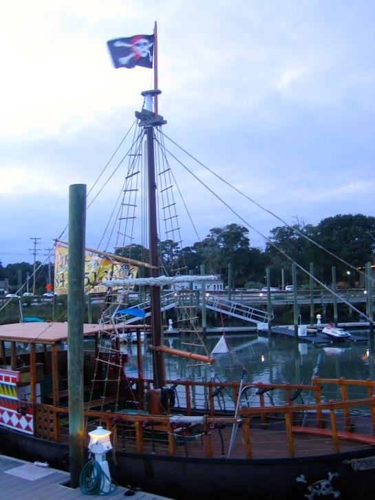 even a pirate ship!
