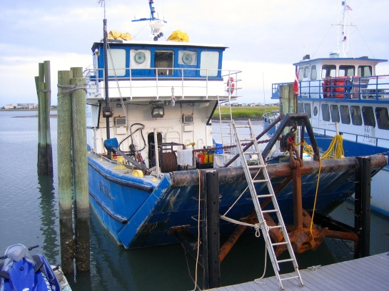 a working fishing boat