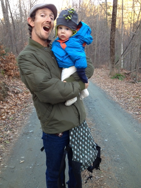 my son and grandson hiking!