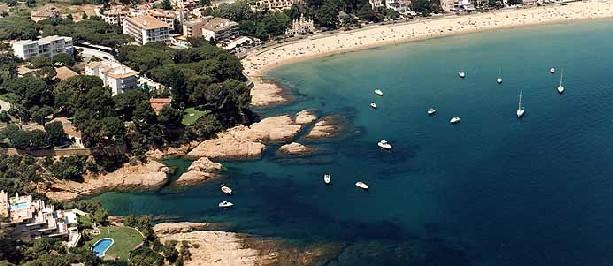 Sant Feliu aerial shot