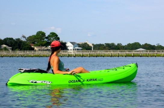we kayaked