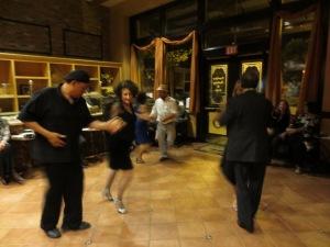 Salsa break at La Milonga del Carlton