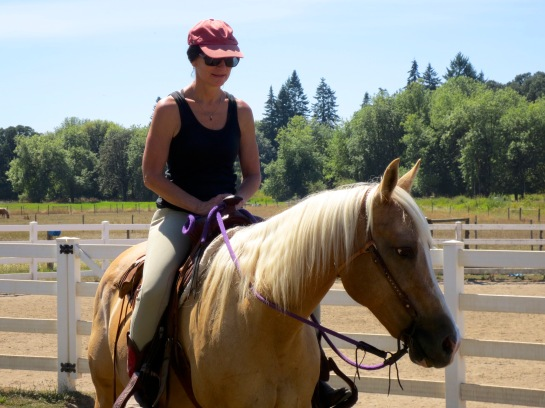 that's me on Stormy... I bred, raised and trained her myself. 100% quarter horse.
